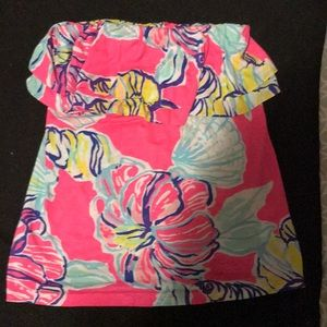 Lilly Pulitzer strapless shirt